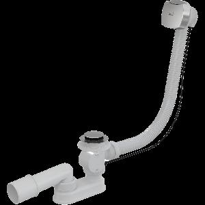 Сифон для ванни автомат комплект (пласт./ хром.) (100cm) AlcaPlast A55К-100